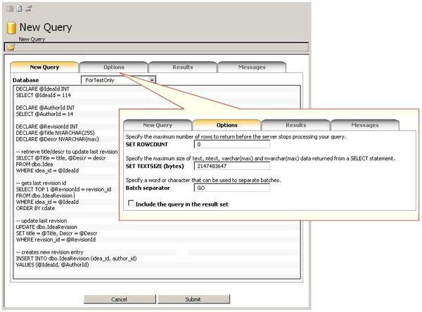 Need to run a T-SQL query on a hosted or remote SQL Server?